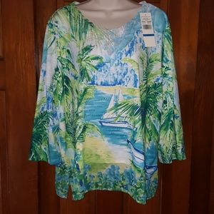 Alfred dinner stunning blouse xL
